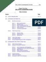 General Traffic Engineering Studies
