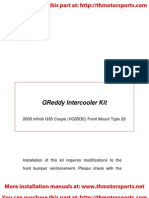 Greddy Inter Cooler Kit Infiniti g35 Installation Kit