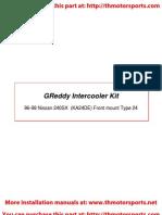 Greddy Inter Cooler Kit Nissan 240sx Ka24de Install Manual