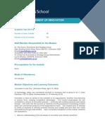 BSM932 Management of Innovation (2013-14)