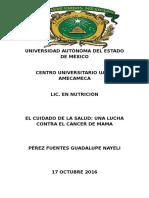 Universidad Autonoma Del Estado de Mexico Cancer de Mama