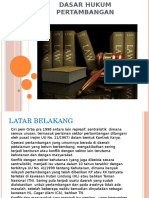 Dasar Hukum Pertambangan