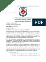 DEBER N°1 (Fecha de presupuesto y 5 conceptos de ADMINISTRACION)