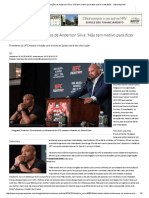 Dana Rebate Reclamações de Anderson Silva_ 'Não Tem Motivo Para Dizer Que Foi Maltratado' - Superesportes