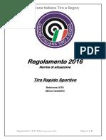 Regolamento T.R.S. 2016 Aggiornato