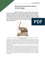 Evolución de Los Procesos de Corte y Deformación de Chapa
