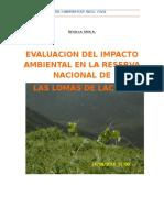 Impacto Ambiental Lomas de Lachay