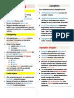 Aspergillus (summary)