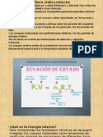 Presentación1 termodinamica Teoria cinetica molecular, Entalpia