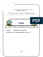 Programas y Procedimientos de Auditoria