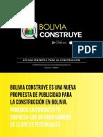 Presentación Bolivia Construye_Aplicación Móvil
