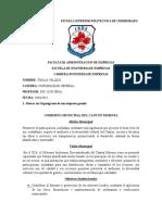 DEBER N°3 (Organizador de una empresa y la funciones del D.F)