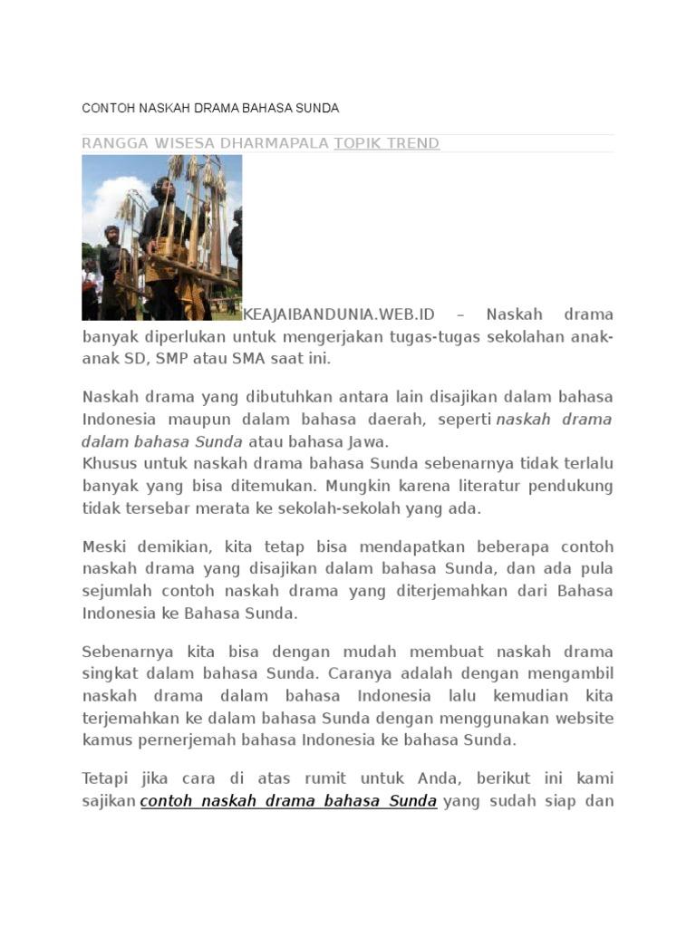 Teks Drama Bahasa Sunda