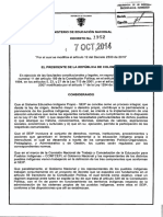 Decreto 1952 Del 07 de Octubre de 2014