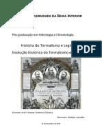 Evolução Histórica Do Termalismo Em Portugal