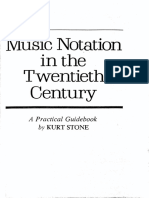 Kurt Stone - Music Notation in the Twentieth-Centurybw (Inglés)