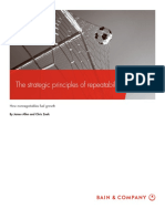 BAIN BRIEF the Strategic Principles of Repeatability