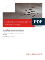[Oustanding] BAIN BRIEF Results Delivery Managing the Highs and Lows of Change