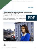 """Djamila Ribeiro_ """"É Preciso Discutir Por Que a Mulher Negra é a Maior Vítima de Estupro No Brasil"""" _ Brasil _ EL PAÍS Brasil"""