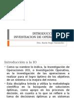 Clase 1 Introduccion a La Investiacion de Operaciones