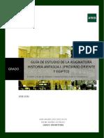 Guía de Estudio de La Asignatura Historia Antigua i. (Próximo Oriente y Egipto)