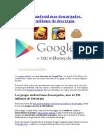 Los Juegos Android Mas Descargados