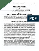 1135-1202, Gualterus de Castellione, Alexandreis Sive Gesta Alexandri Magni Libris X, MLT