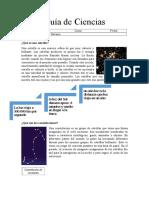 Guía de Ciencias Las Estrellas y El Dia y La Noche