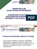 Anteproyecto Norma Tecnica Del Programa de Seguridad y Salud en El Trabajo