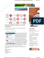 Common MSDS-To-SDS Conversion Questions
