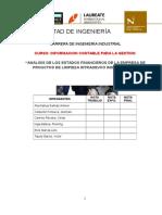 Analisis de Estados Financieros Intradevco Industrial s.A