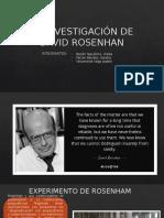 La Investigación de David Rosenhan