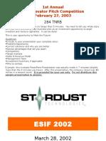 Sample Elevator Pitch Presentation