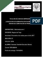 Tarea Administracion Ejercicios de Pronostico