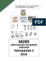 Rancangan Tahunan Sains T5 2016