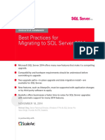 Best Practices for Migrating to SQL Server 2014 Executive Summary