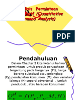 Analisis Permintaan Kuantitatif (Quantitative Demand Analysis)