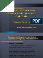 Posgrados en Bolivia