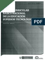 Diseño Curricular Básico Nacional Educación Superior Tecnológica Perú