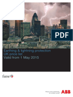 Earthing & Lightning Protection UK Price List 2015