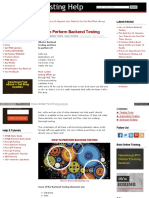 Www Softwaretestinghelp Com How to Perform Backend Testing