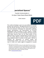 (2005) Specialized Spaces - Touristic Communication in the Age of Hyper-Space-Biased Media