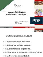 Políticas públicas en sociedades complejas  v 2016