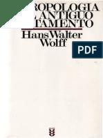 Wolff - Antropologia Del Antiguo Testamento - Ed Sigueme
