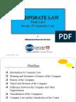 Week 2 & 3 Scope of Corporate Law