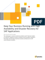 High Availability Disaster Recovery for Sap Applications