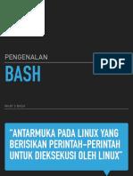 Pengenalan Bash Linux