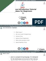 Java Introduction Training