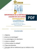 Importancia de La Metrología en La Calidad de Los Alimentos- Laura Regalado