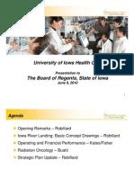 University Hospitals presentation to Board of Regents